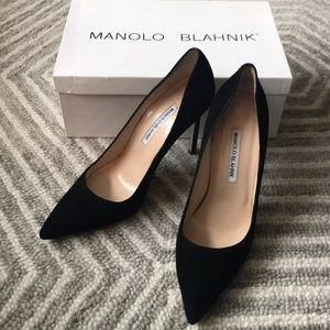 Manolo Blahnik BB 105 Black Suede